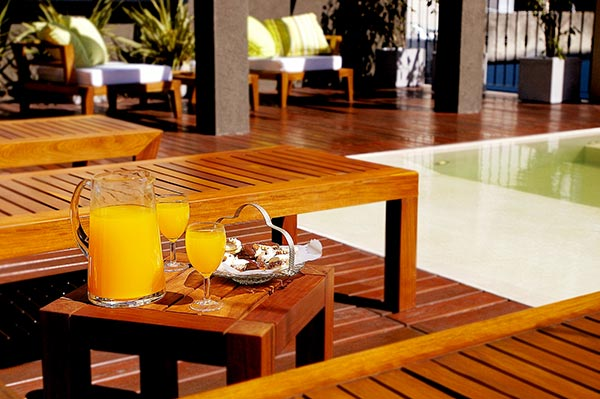 Luxury Rental Apartments Buenos Aires Pool Day Terrace Woden Deck Plants