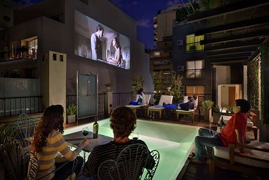 Luxury Rental Apartments Buenos Aires Pool Movie Night Lounge Chair Friends