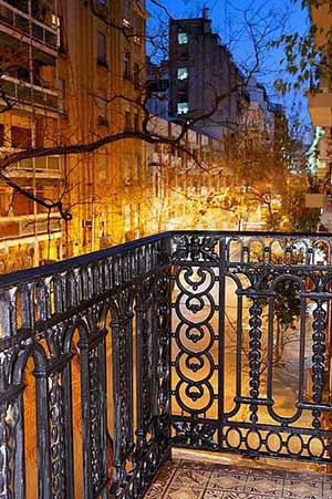 View Junin Street Buenos Aires Dusk